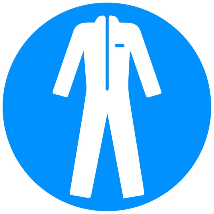 Använd skyddskläder