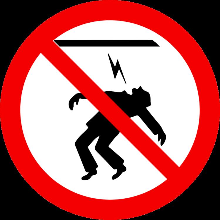 förbjudna röra kraftkablar