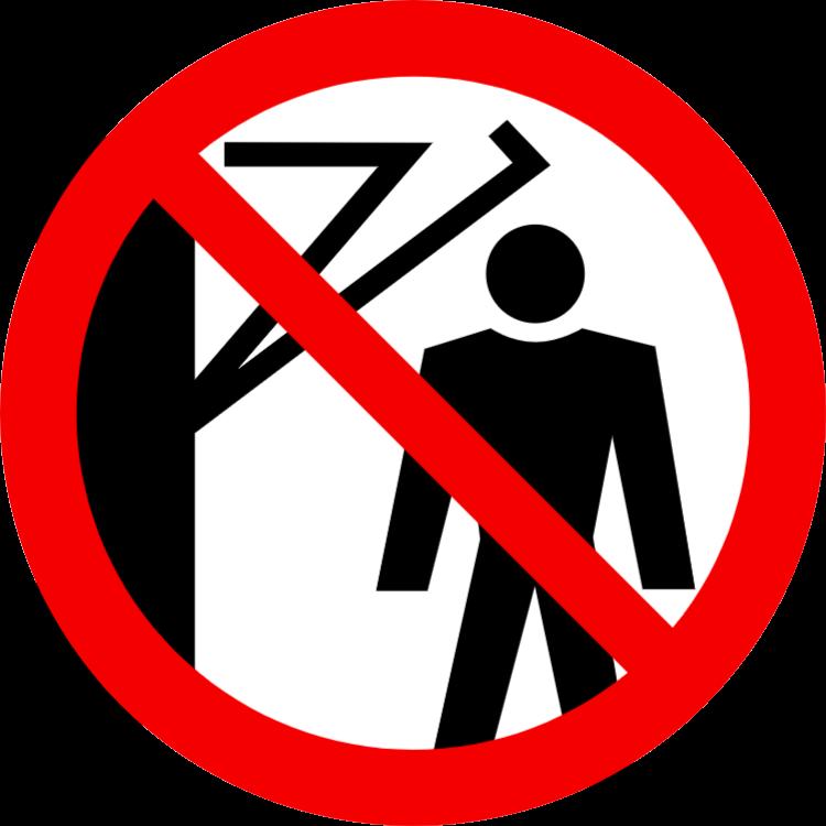Förbjudna uppstår bakom armen