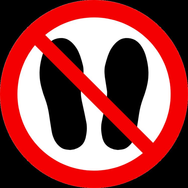 förbjudet att komma in i området