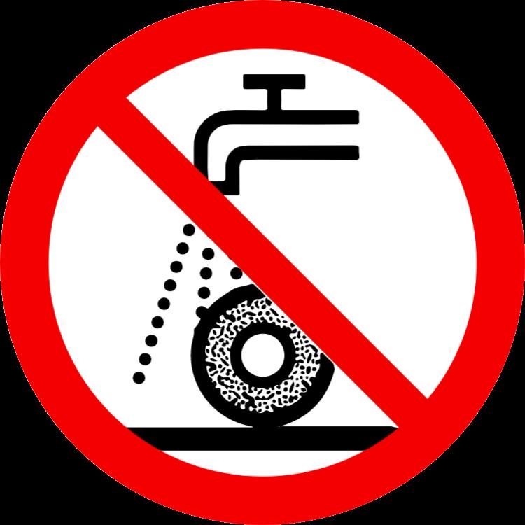 Inte tillåtet för våtslipning