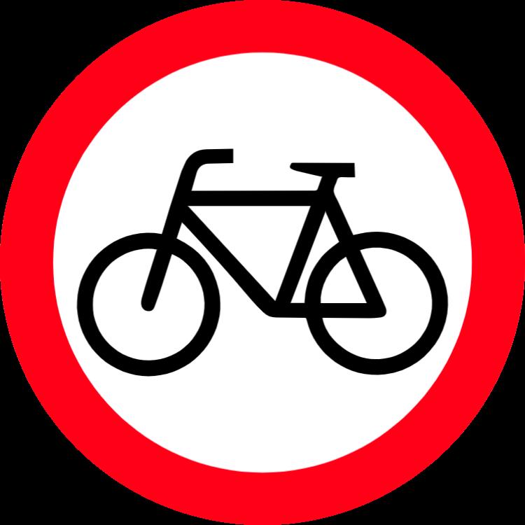 Cykling förbjudet