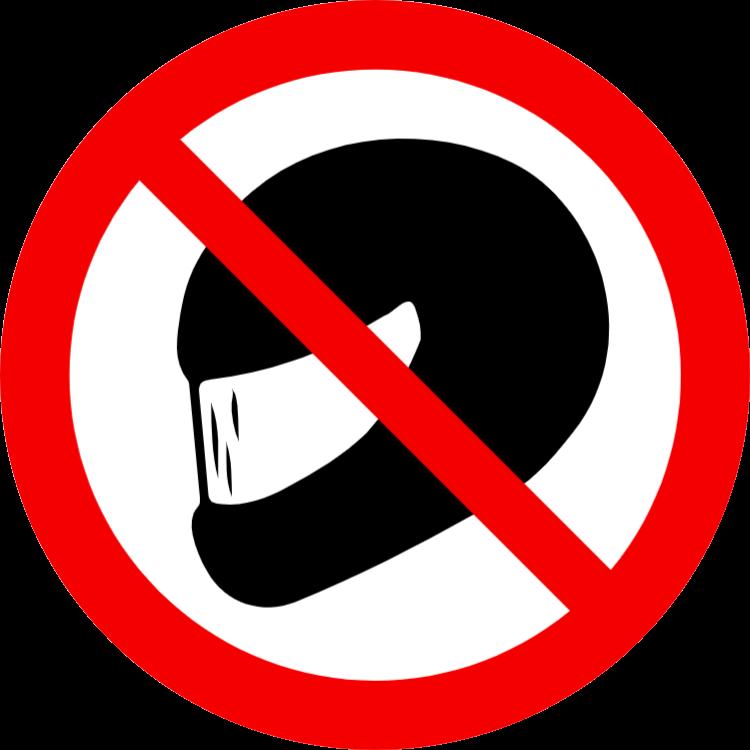 hjälm förbud