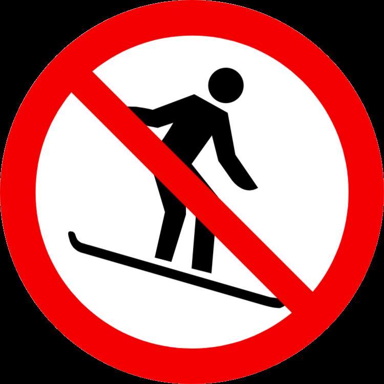 Snowboard förbjudet