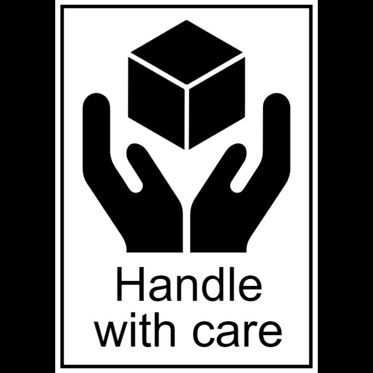 Handtag med omsorg (engelska text)