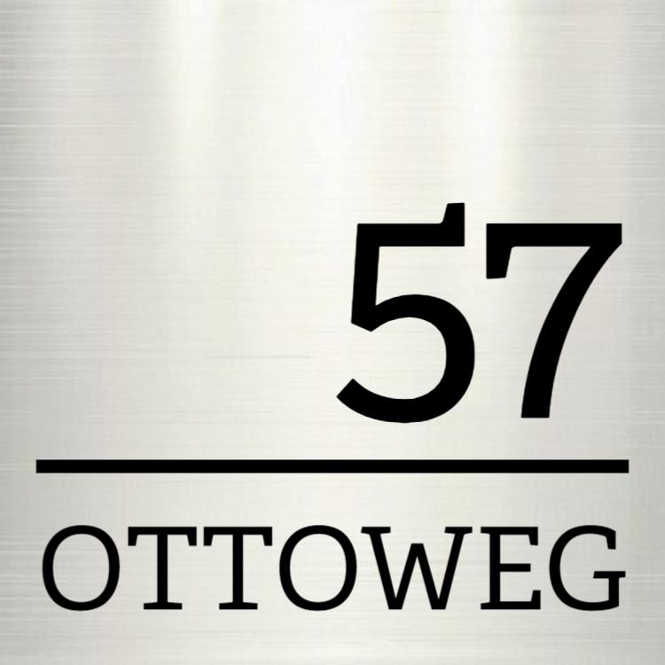 Silber Hausnummer - Aluminiumschilder