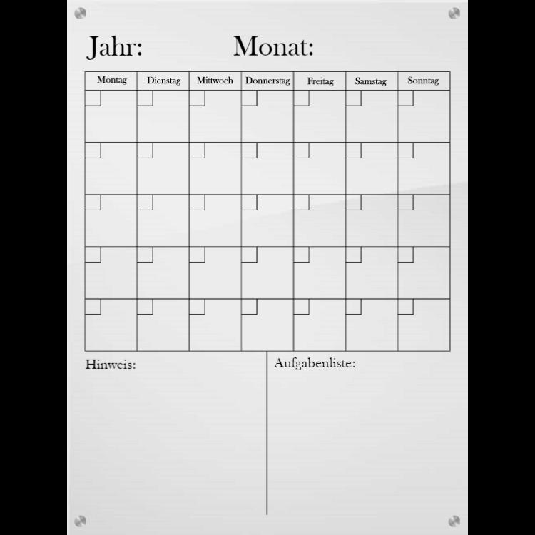 Vertikaler Kalender
