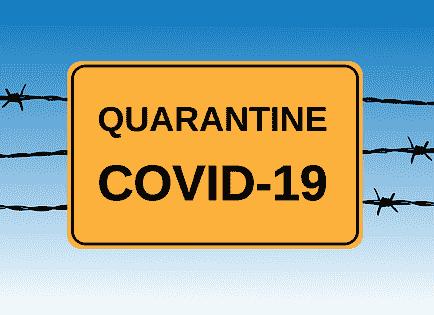 Coronavirus (COVID-19) - Quarantäneschilder