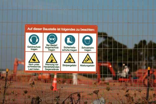 Baustellen-Sicherheitsschilder