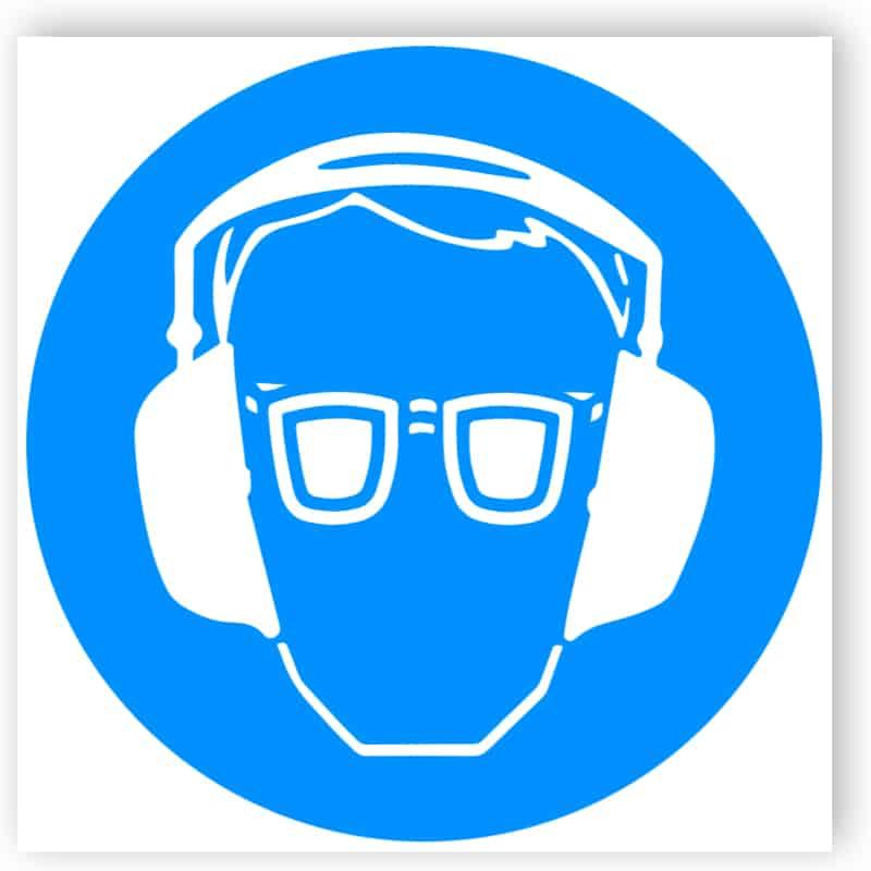 Augen- und Gehörschutz benutzen