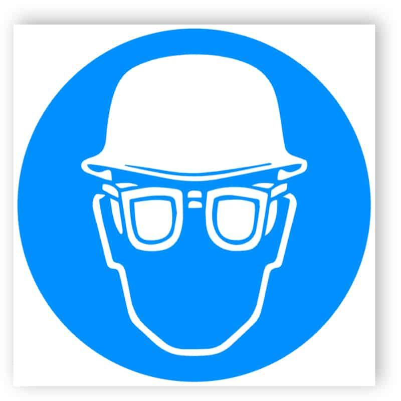 Kopf- und Augenschutz benutzen
