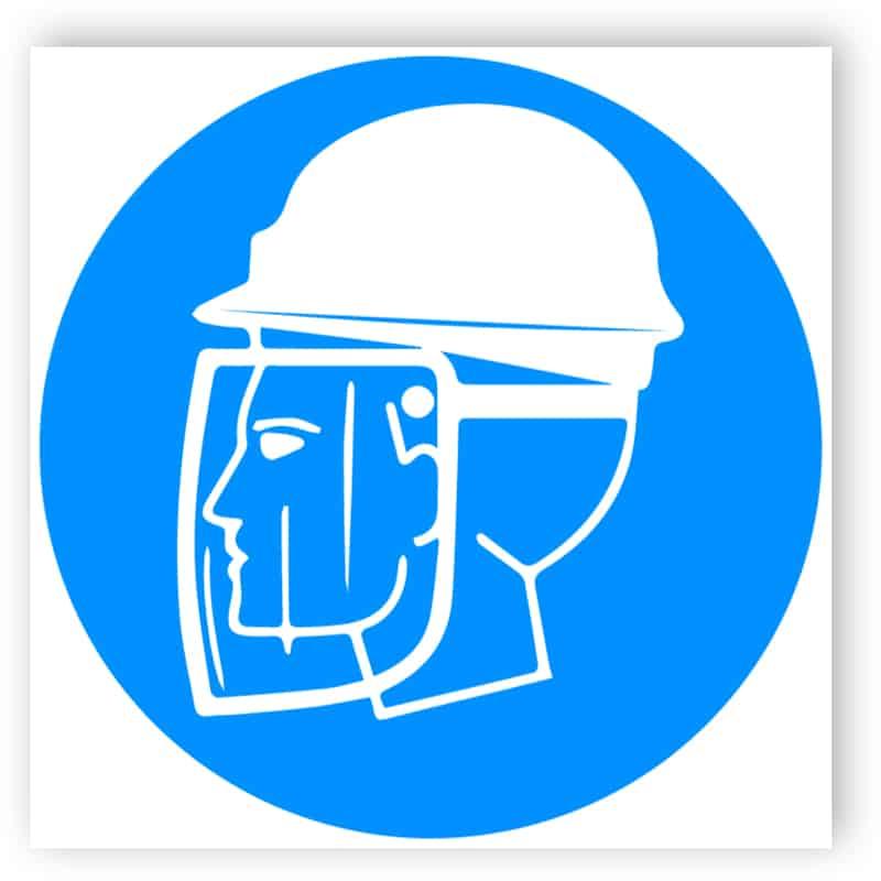 Kopf- und Gesichtsschutzschild benutzen