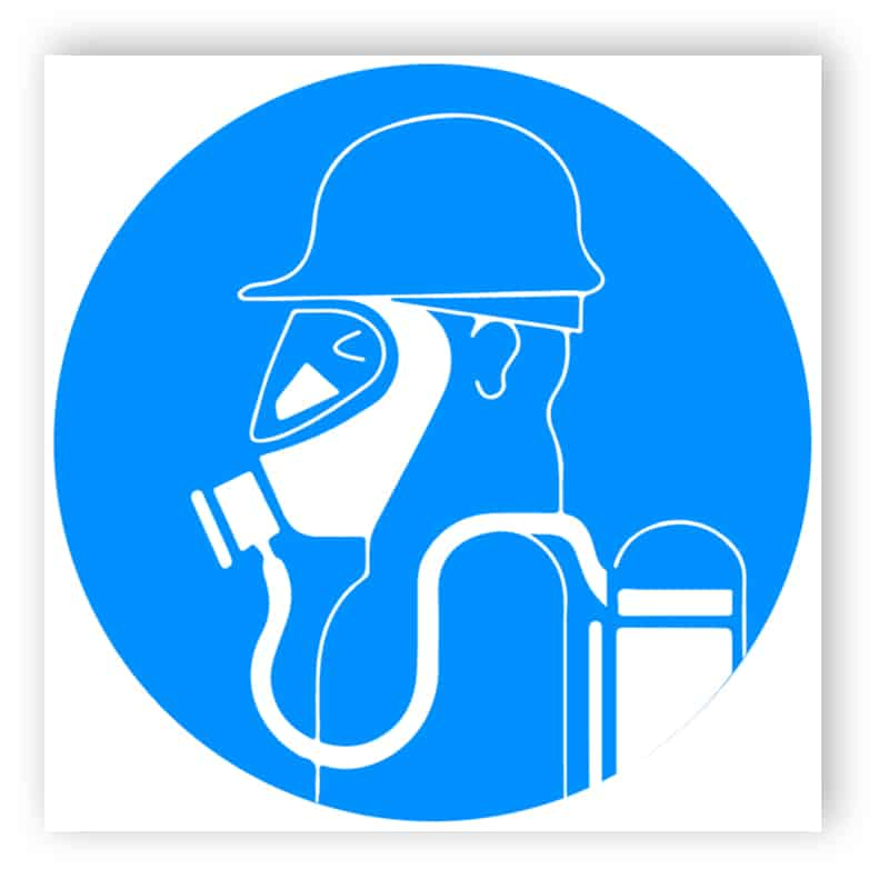 Schweren Atemschutz benutzen