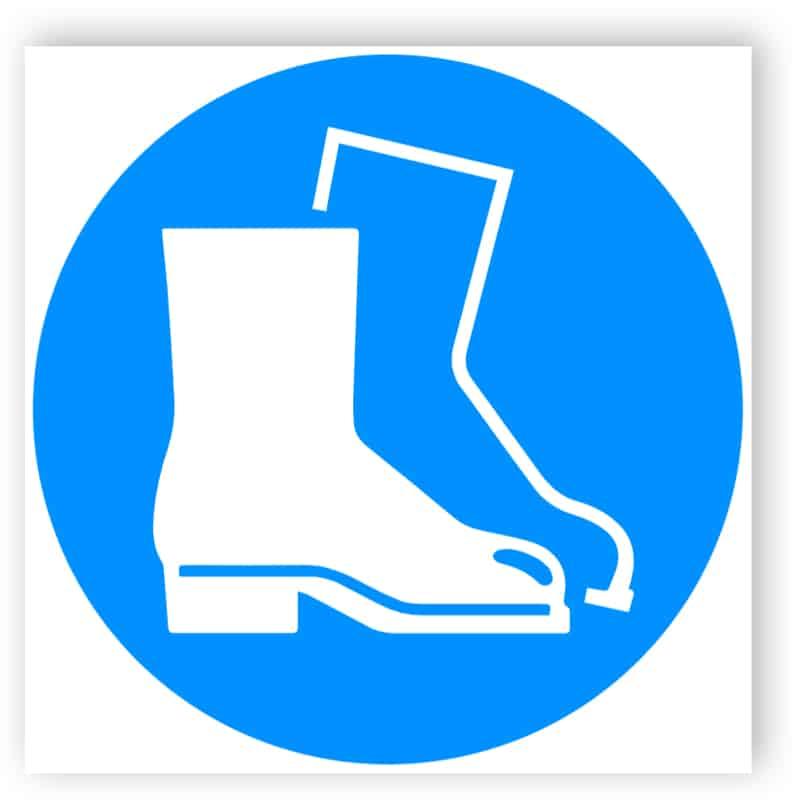 Fußschutz benutzen