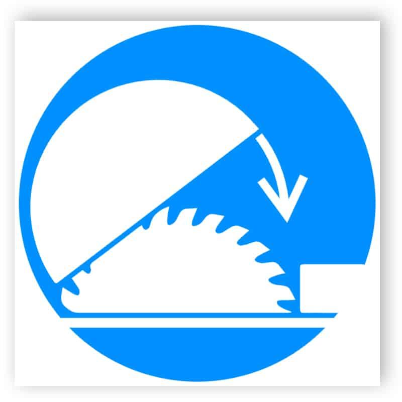 Schutzschild für Säge benutzen