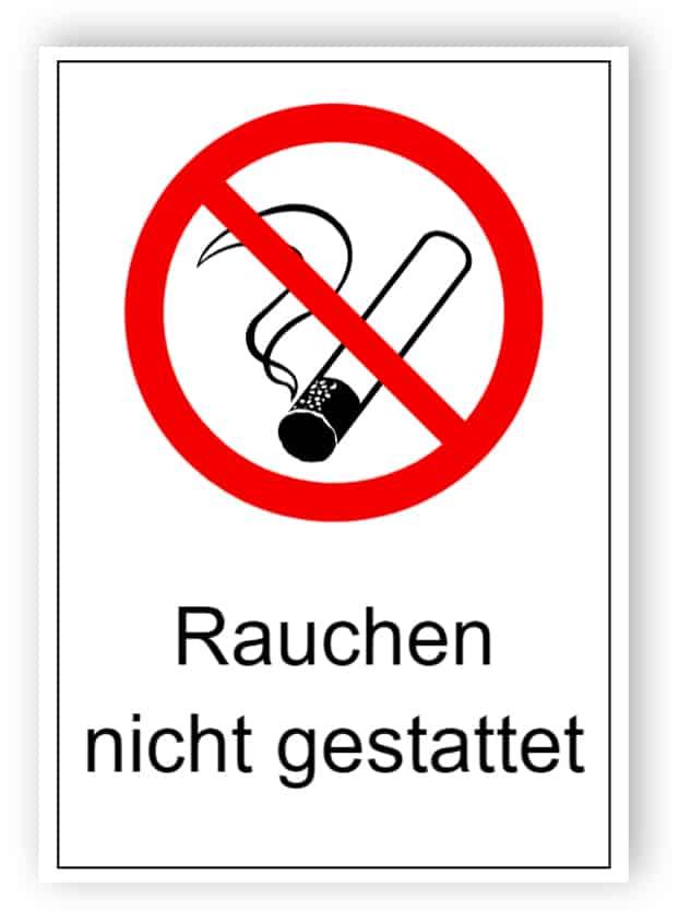 Rauchen nicht gestattet