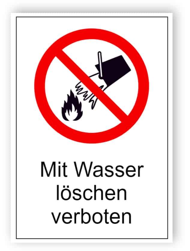 Mit Wasser löschen verboten 1