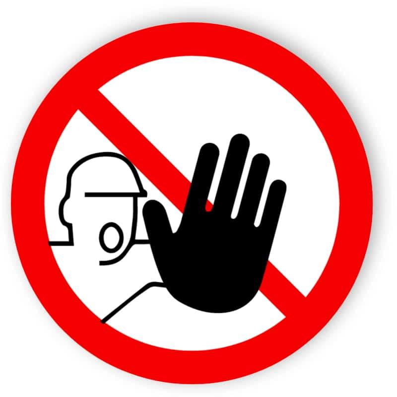 Zutritt für Unbefugte verboten 1