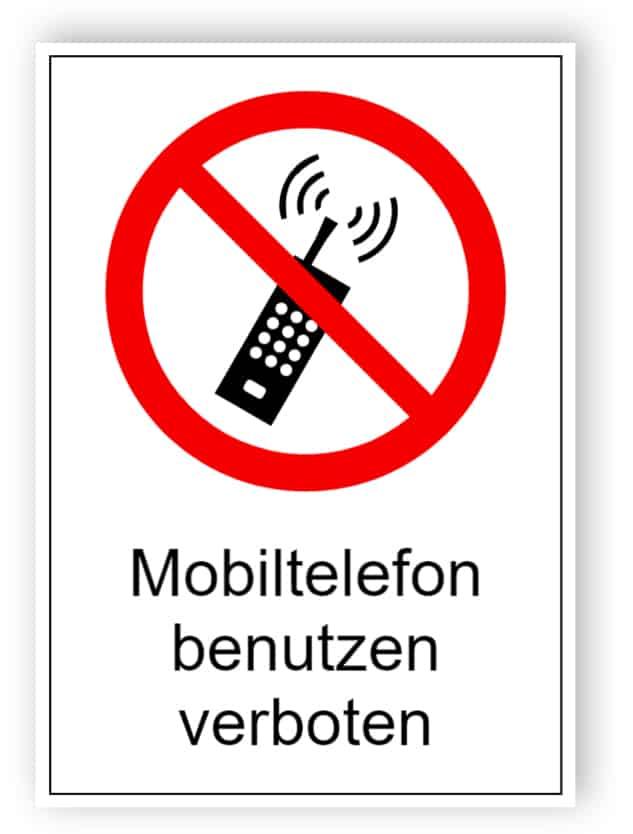 Mobiltelefon benutzen verboten