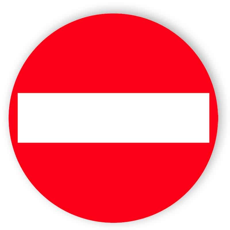 Verbot der Einfahrt