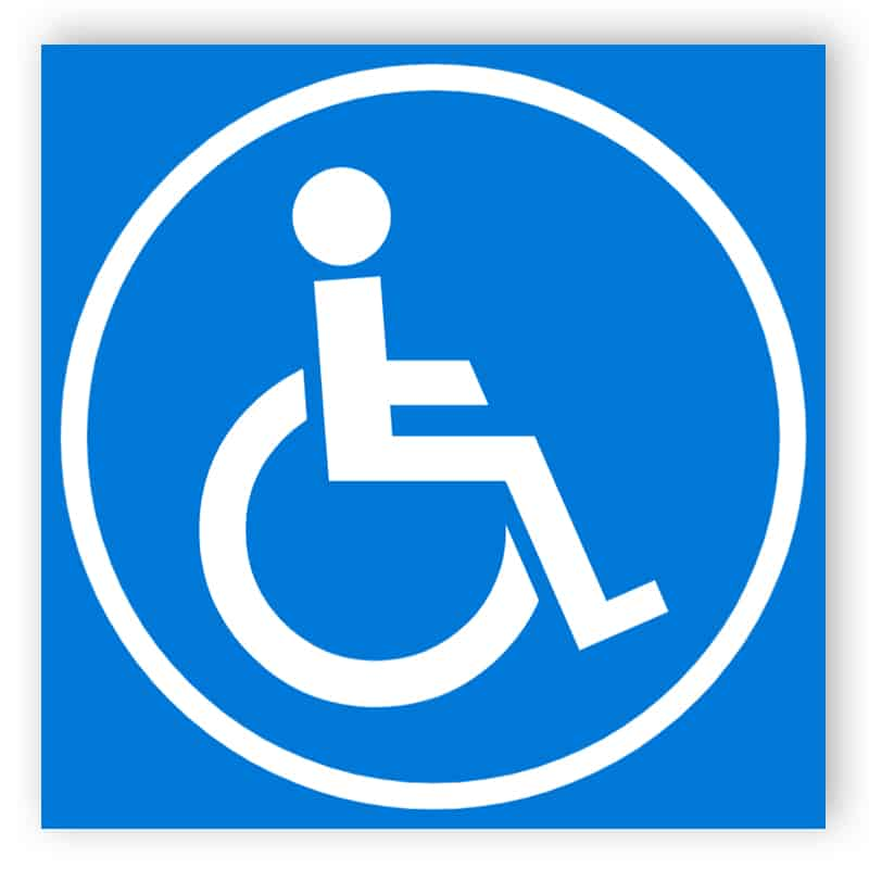 Blau Behinderte Schild