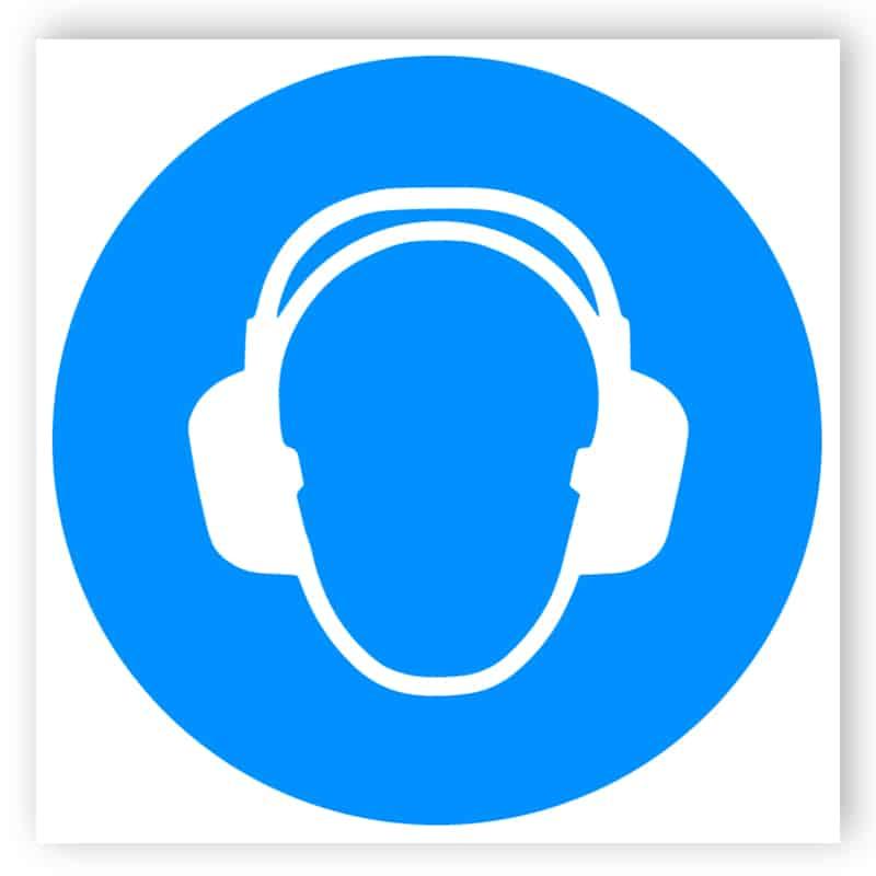 Gehörschutz Zeichen
