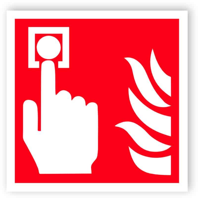 Feueralarm Zeichen