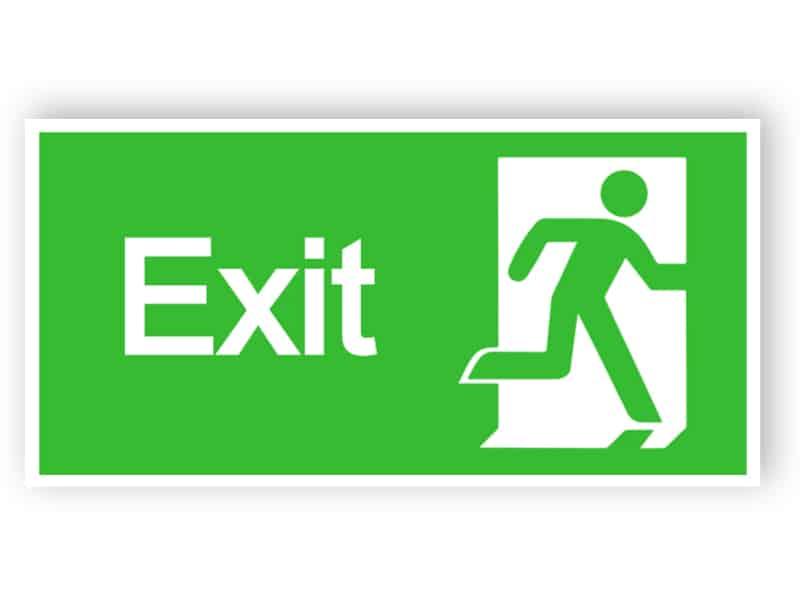 Exit sign - rechts