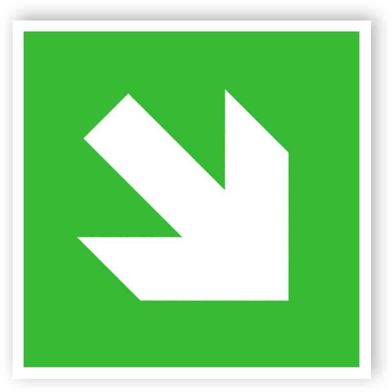 Diagonal Pfeil-Zeichen