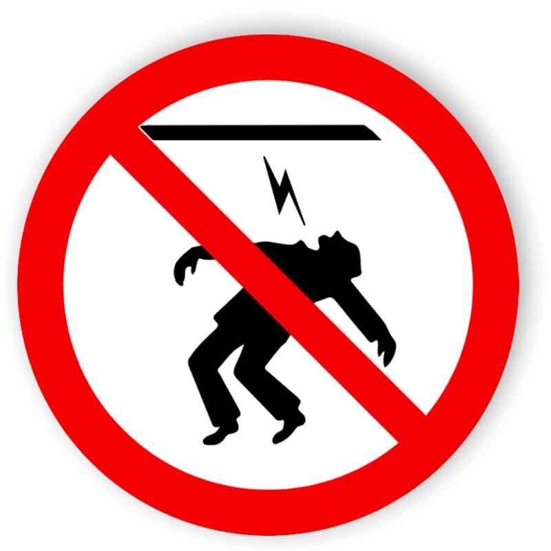Starkstromkabel berühren verboten