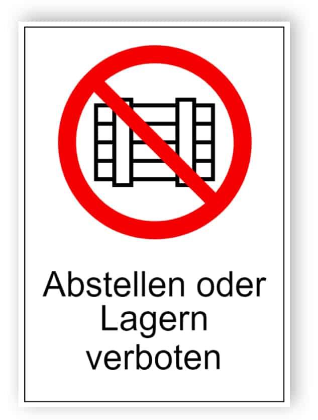 Abstellen oder Lagern verboten