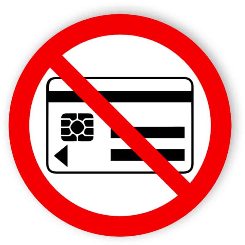Mitführen von magnetischen Datenträgern verboten