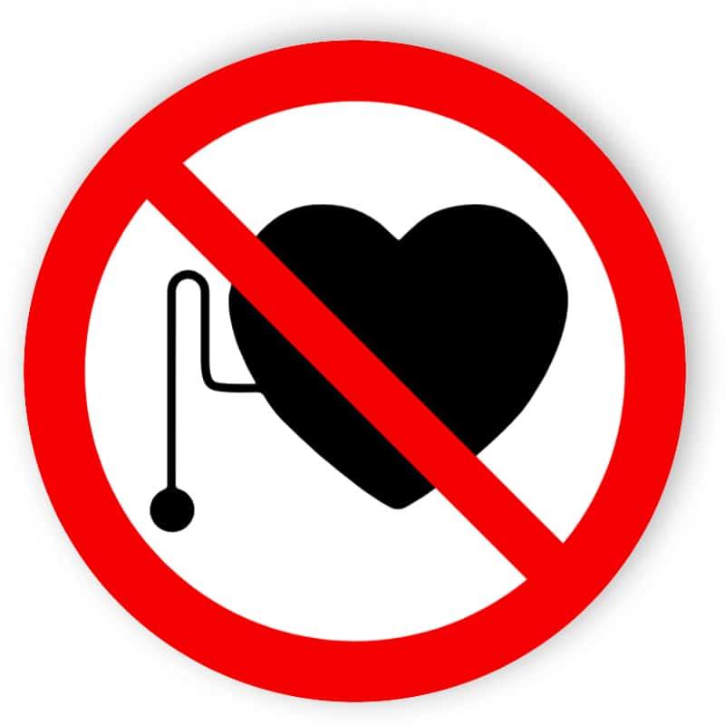 Verbot für Personen mit Herzschrittmacher