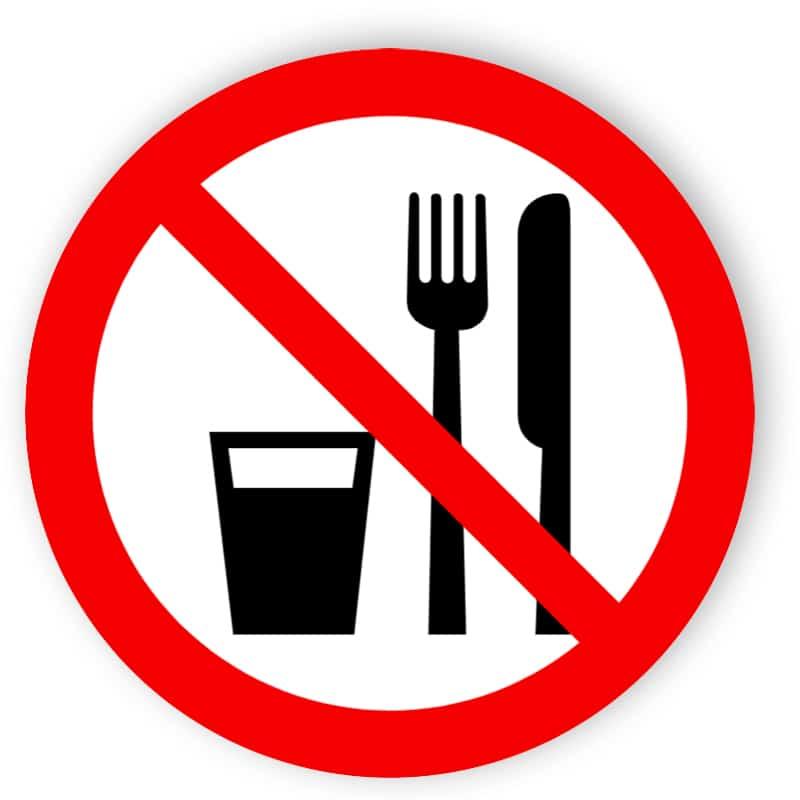 Essen und Trinken verboten 1
