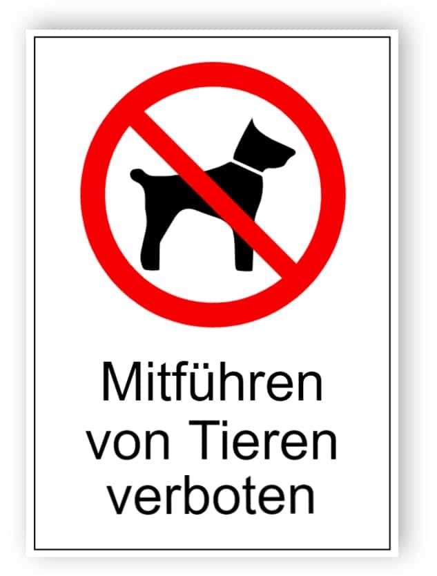 Mitführen von Tieren verboten 1