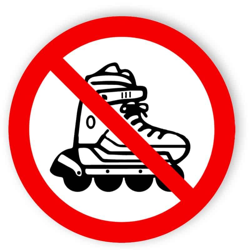 Inline-Skates verboten