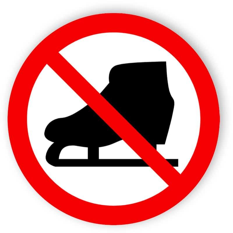 Eislaufen verboten