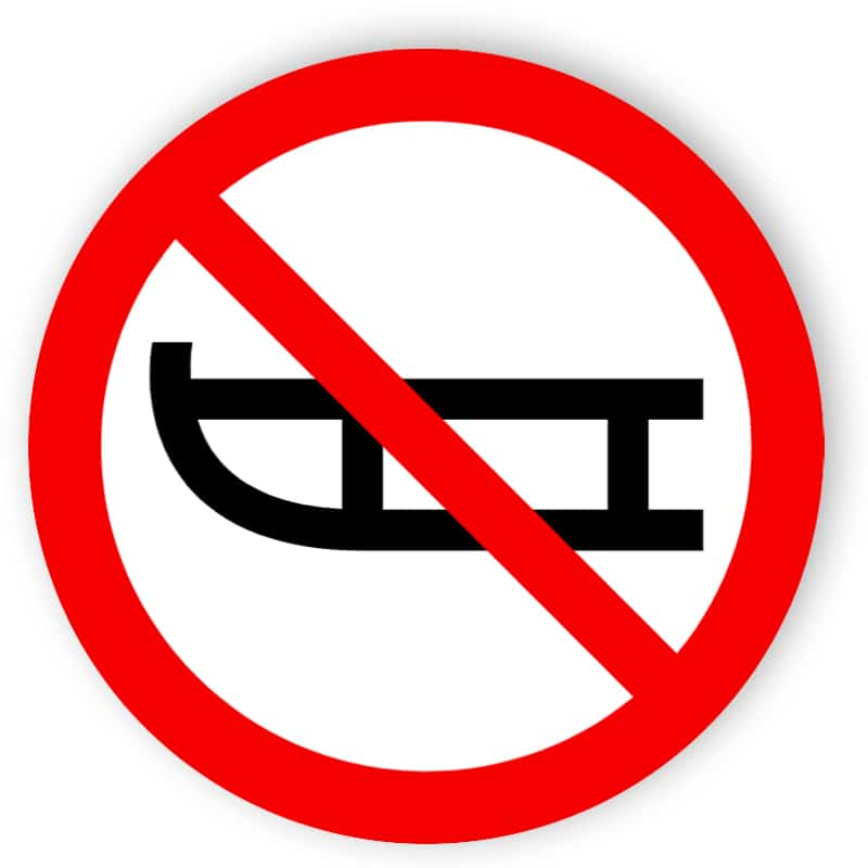 Schlittenfahren verboten