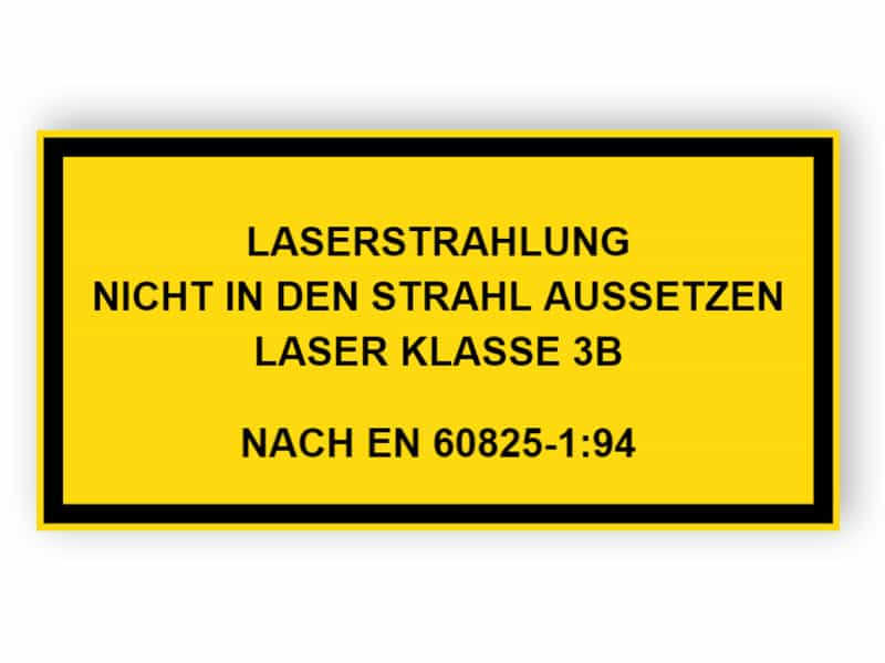 Laserstrahlung Nicht dem Strahl aussetzen