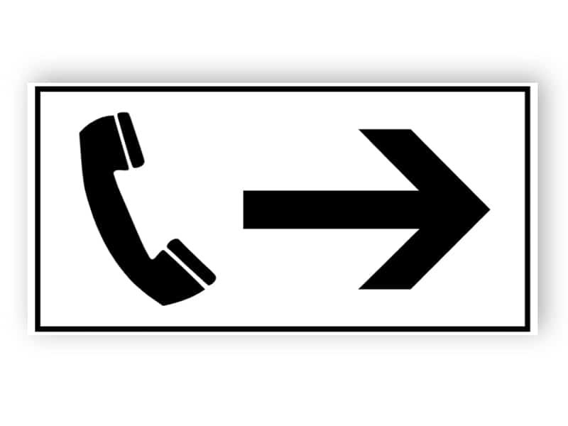 Richtung zum Telefon
