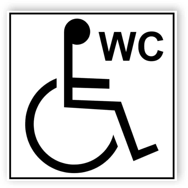 Toilette für Rollstuhlfahrer