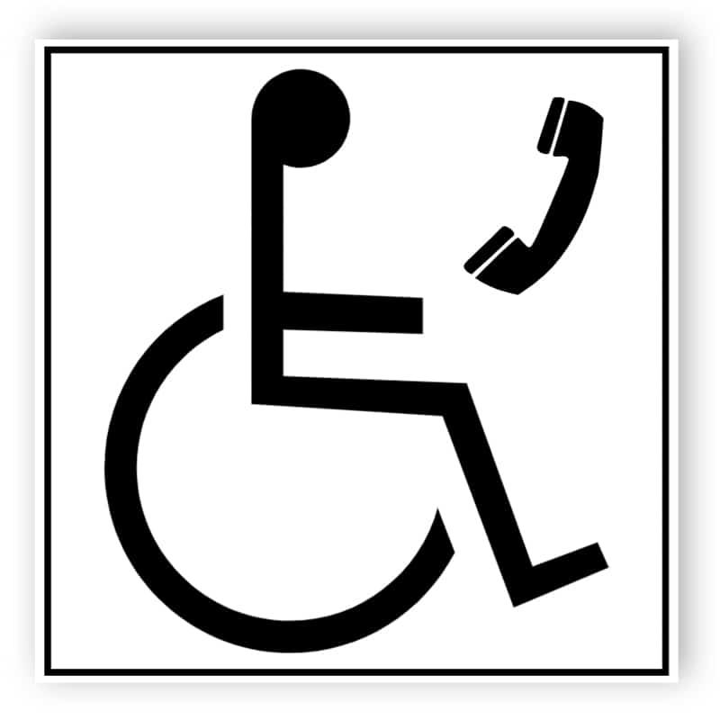 Telefon für Rollstuhlfahrer