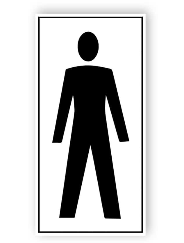 Toilette für Herren