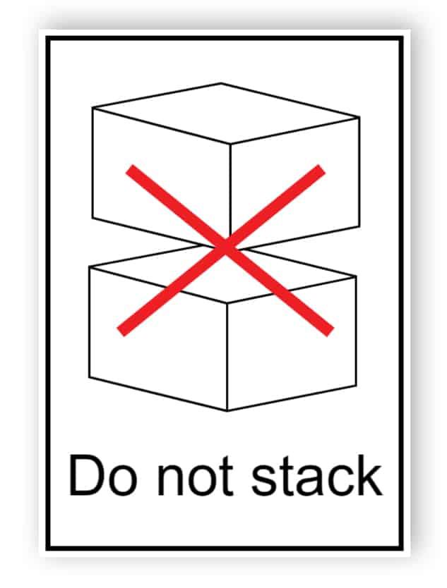 Do not stack (englischer Text)
