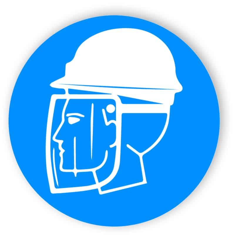 Kopf- und Gesichtsschutzschild benutzen 1