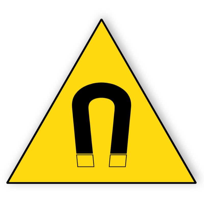 Warnung vor magnetischem Feld