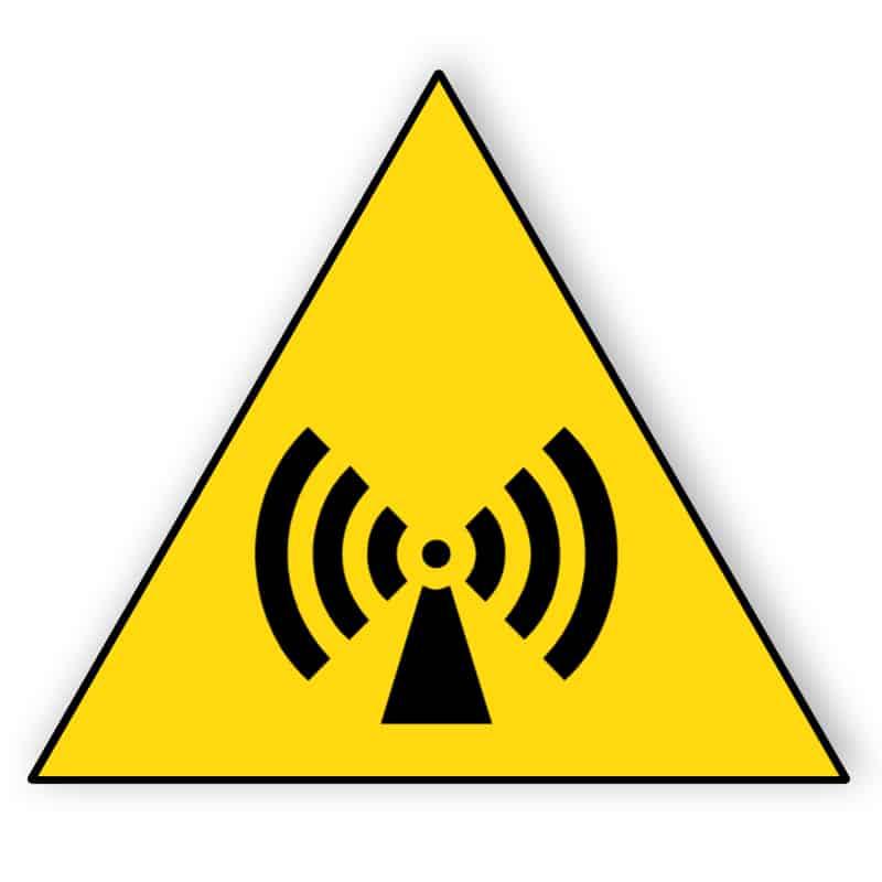 Warnung vor nichtionisierender Strahlung