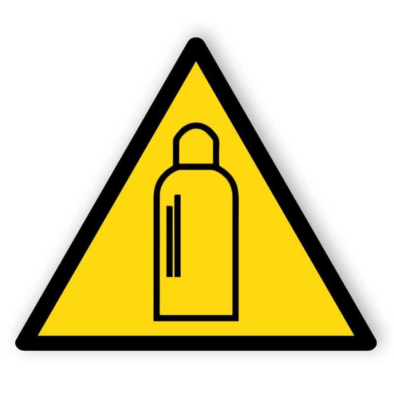 Warnung vor Gasflaschen
