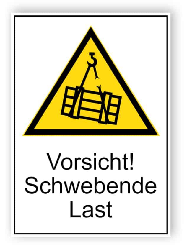 Warnung vor schwebender Last 1