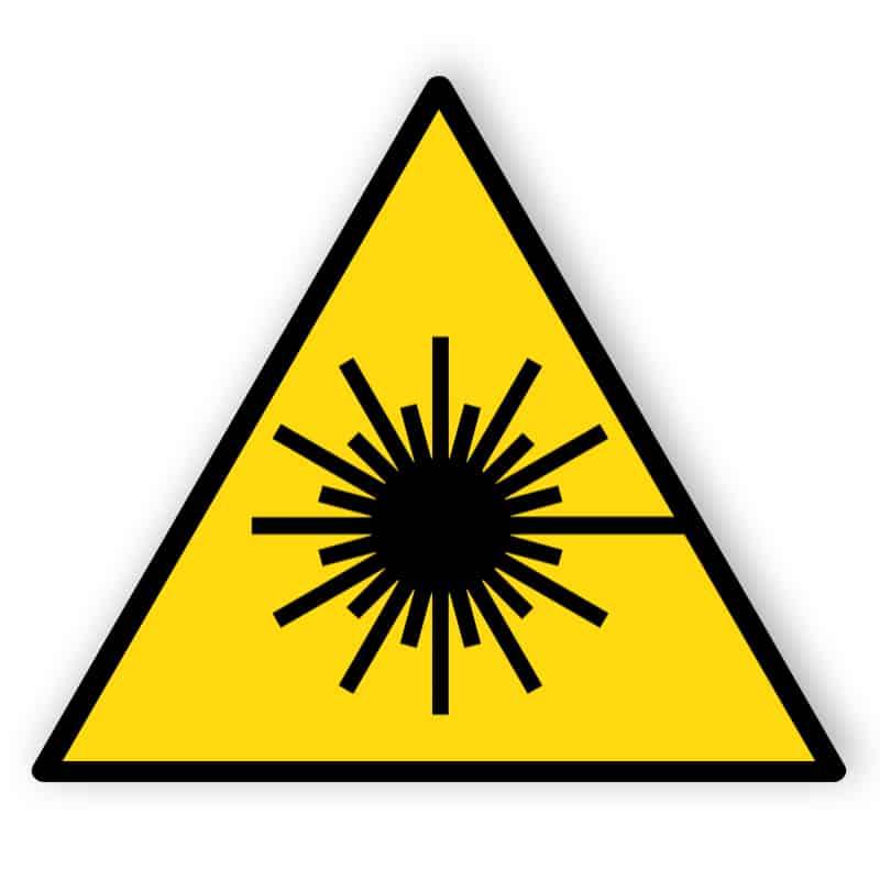 Warnung vor Laserstrahlen